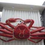 Eine riesige bewegliche Krabbe