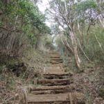 Treppe für den steilen Abstieg