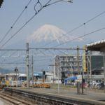 Fuji vom Bahnhof Fujikawa