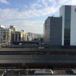 Blick zu Himejijo vom Bahnhof